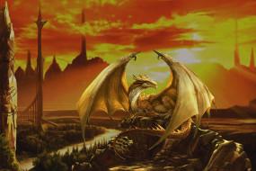 фэнтези, драконы, дракон