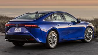 Toyota Mirai 2021 (US) обои для рабочего стола 1920x1080 toyota mirai 2021 , us, автомобили, toyota, mirai, 2021, легендарное, японское, качество, сделанное, на, века