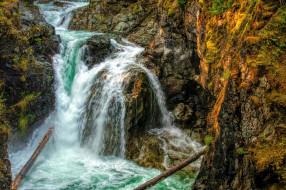 little qualicum provincial park, vancouver island, british columbia, canada, природа, водопады, little, qualicum, provincial, park, vancouver, island, british, columbia