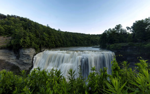 middle falls, letchworth state park, ny, природа, водопады, middle, falls, letchworth, state, park