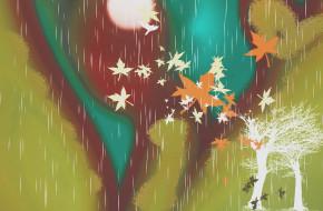 векторная графика, природа , nature, осень
