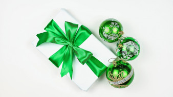 шарики, подарок, лента, бант