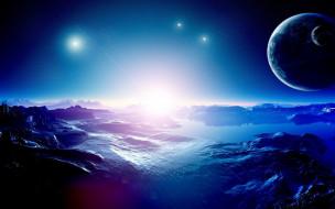 космос, поверхность, льды, пустыня, синева, звезда, планета, астероиды, метеориты, спутник, атмосфера, явление, тьма, пространство, вселенная