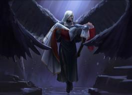 обои для рабочего стола 2560x1841 видео игры, magic,  the gathering - other, девушка, ангел, крылья