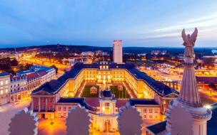 city palace, old market square, potsdam, germany, города, - огни ночного города, city, palace, old, market, square