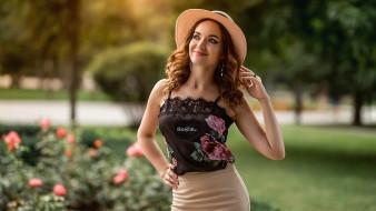 юбка, топик, серьги, шляпа, кружева, Екатерина Ароева
