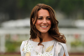шатенка, лицо, улыбка, Kate Middleton