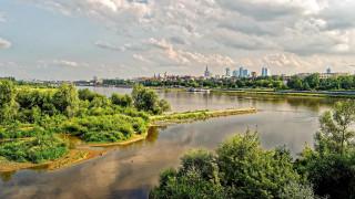 города, варшава , польша, река, панорама