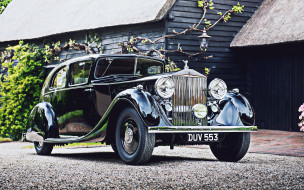 автомобили, rolls-royce, phantom, 3, saloon, 4k, ретро, 1936, года, mulliner, 3ax79, rolls, royce