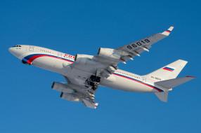 ИЛ- 96, самолёт, Россия, полёт, авиалайнер