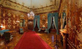 интерьер, дворцы,  музеи, люстры, зеркала, шторы
