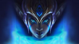 видео игры, league of legends, morgana, лицо