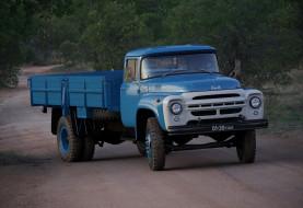 зил- 130, автомобили, зил грузовики, зил-, 130, автомобиль, грузовик, синий, ретро