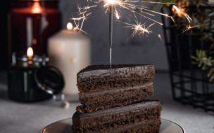 еда, торты, торт, шоколадный