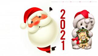 санта, борода, шапка, новогодний, календарь