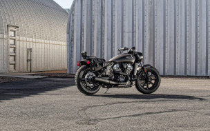 2020 indian scout bobber abs bronze smoke, мотоциклы, indian, scout, bobber, bronze, smoke, 2020, экстерьер, черные, мотоцикл, американские