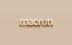 бренды, - другое, логотип, macron, коричневый, гипсовый, фон, 3d, эмблема, art, спортивная, одежда, обувь, итальянская, компания