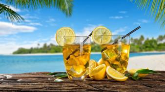 еда, напитки,  коктейль, тропический, коктейль, лимоны