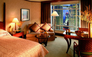 интерьер, спальня, лампа, торшер, кровать, диван