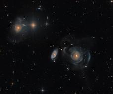 космос, галактики, туманности, созвездие, рыбы