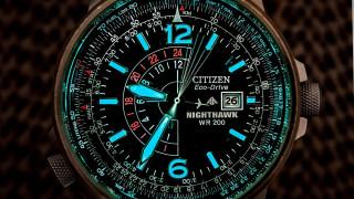 бренды, citizen, nighthawk, pilot, wr200, eco, drive, наручные, часы, с, водозащитой
