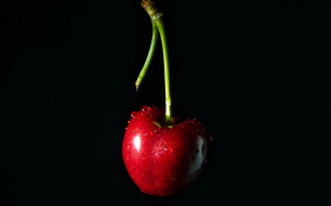 еда, вишня,  черешня, вишенка, капли