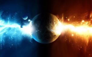 космос, арт, планета, спутники, энергии