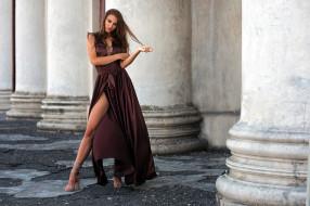 девушки, маргарита челнокова, модель, платье