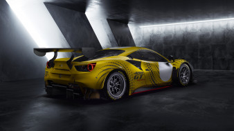 автомобили, ferrari, 488, gt, modificata, 2021, купе, вид, сзади