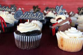 еда, пирожные,  кексы,  печенье, капкейки, кексы, надпись