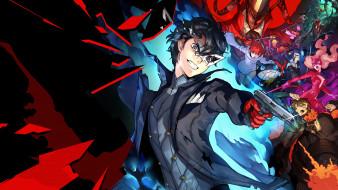 аниме, persona, 5, strikers