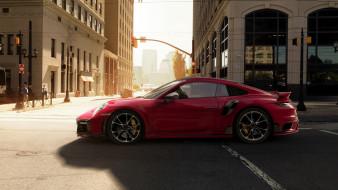 techart porsche 911 turbo s 2021, автомобили, porsche, techart, 911, turbo, s, 2021, профиль, тюнинг, порше