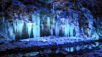 природа, айсберги и ледники, лед, зима, скалы