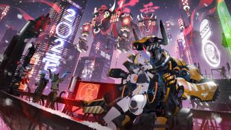 аниме, оружие,  техника,  технологии, праздник