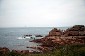 бретань, франция, природа, побережье