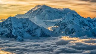 природа, горы, горные, вершины, снег, туман, облака