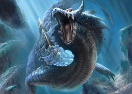вурм, фэнтези, драконы, самый, свирепый, водяной, дракон
