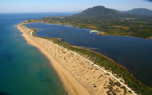 природа, побережье, горы, равнина, остров, море