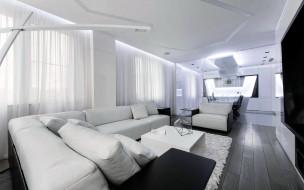 интерьер, гостиная, мягкий, уголок, телевизор