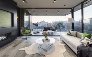 интерьер, гостиная, диван, кресло