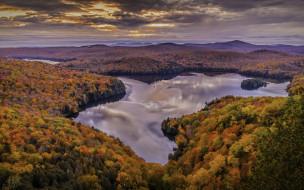 природа, реки, озера, река, лес, осень