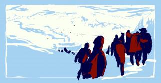 векторная графика, люди , people, люди, снега