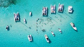 корабли, разные вместе, каймановы, острова