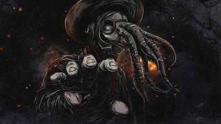 Plague doctor Chtulhu, besenheide