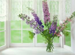 цветы, букеты,  композиции, букет, стакан, окно