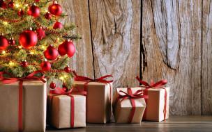 елка, ширики, подарки