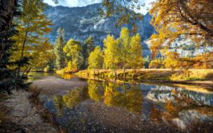 merced river, yosemite national park, california, usa, природа, реки, озера, merced, river, yosemite, national, park
