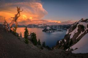 crater lake, oregon, природа, реки, озера, crater, lake