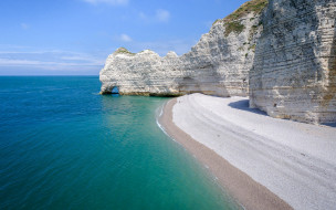 etretat cliffs, normandy, france, природа, побережье, etretat, cliffs