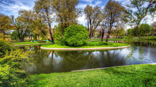 водоем, парк, остров